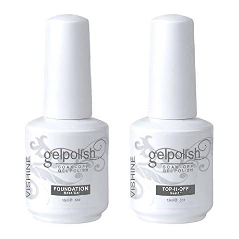 Vishine Gelpolish Soak-off 2Pcs TOP & BASE COAT Gel Polish