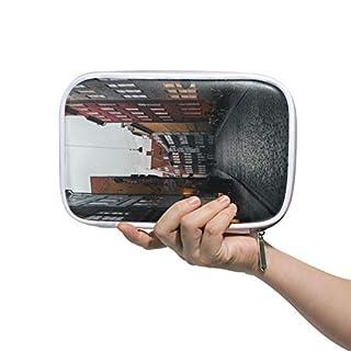 Montoj, schöne Bau-Make-up-Pinseltasche mit Reißverschluss, große Kapazität, für Stifte