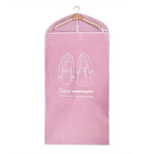 5pz Set home Dress indumento Suit copertura antipolvere di immagazzinaggio Protector vestiti copertura antipolvere con 2dimensioni Pink Pink