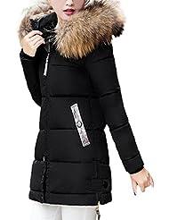 abrigos de mujer invierno plumas largos fiesta Sannysis parka con capucha cremalleras de bolsillo chaquetas mujer moto deportivas baratos ropa de mujer en oferta invierno abrigos