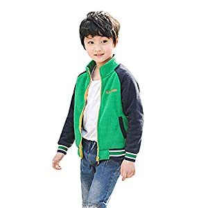 Bellelove〗 Kinder Fleece Farbabstimmung Baseball-Uniform, Herbst und Winter Kinderkleidung Baby Sport lässig Stil Nähte Jacke