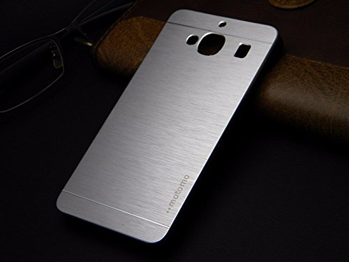 Tarkan Premium Brushed Aluminium Protective Hard Back Case Cover for Xiaomi Redmi 2 (Silver)