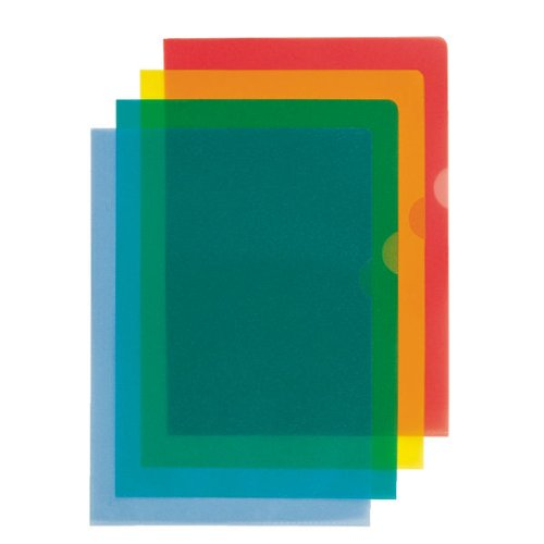 Esselte Copysafe Folder Plastic Cut Flush A4 Blue, Pack of 100