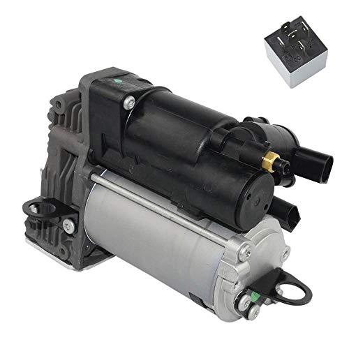 GUOPIAPIA Pompa compressore per sospensioni pneumatiche Compatibile Mercedes-Benz GL X164 ML W164 1643200304 1643200504 1643200904 A1643200504,Argento