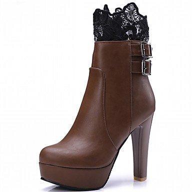 Rtry Zapatos De Mujer Pu Cuero Sintético Otoño Invierno Comfort Novedad Botas De Moda Botas Gruesas Botines Punta Redonda / Botines Hebilla Para Pieza & Amp; Us5.5 / Eu36 / Uk3.5 / Cn35
