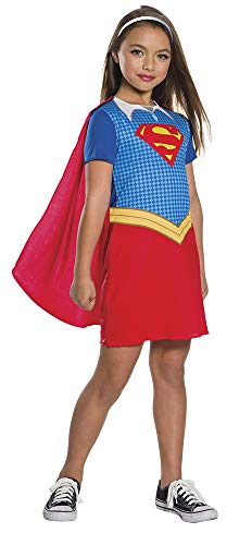 DC Comics - Disfraz de Supergirl oficial para niña, infantil 5-6 años (Rubie's 630987-M)