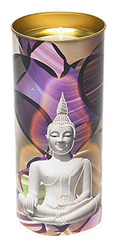 Gebeizt Art-glas-fenster (Etwas Finden, verschiedenen gebeizt Glas Fenster Effekt Buddha Kerze, Bambus, Mehrfarbig)