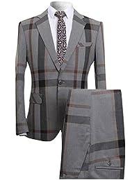 42fb13bb99280 YOUTHUP Costume Homme Un Bouton Mariage Mode Slim fit Deux-Pièces Elégant  Blazer+Pantalon