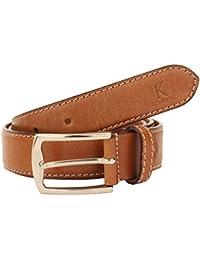 K London Men Formal,Casual Tan Genuine Leather Belt