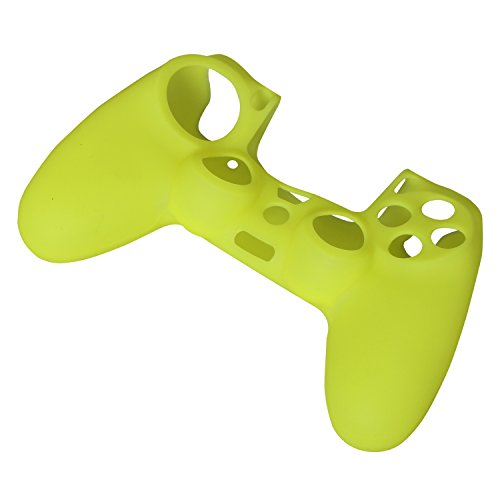 eJiasu Silikon Tasche Soft Skin Cover für PlayStation 4 PS4 Controller Griff Griff (grün)