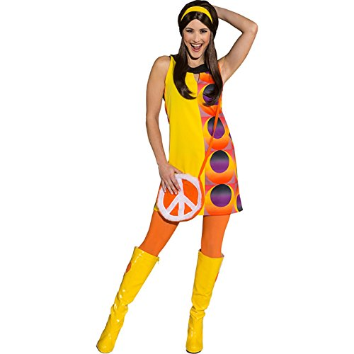 Partykleid Disco Hippiekleid Mottoparty 70er Jahre Kleid (42)