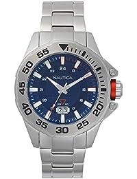 3b8406d2074a Nautica Reloj Analógico para Hombre de Cuarzo con Correa en Acero  Inoxidable NAPWSV003