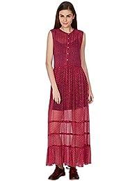 Ritu Kumar Women's Viscose Dress(DRSVCF50S00N13713746__Pink)