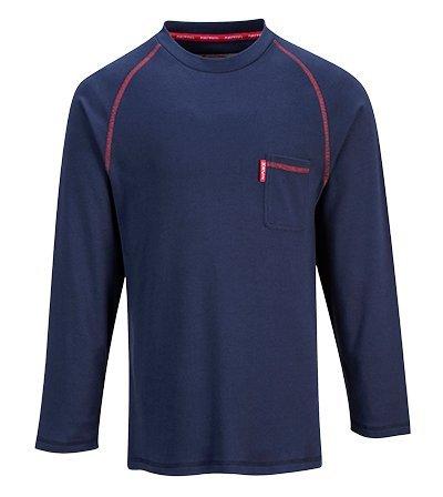 Preisvergleich Produktbild Portwest fr01narxxl Bizflame feuerbeständig Rundhalsausschnitt Shirt, Regular, Größe: XXL, Navy