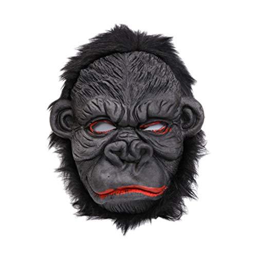 BESTOYARD Orang-Utan Maske Kostüm Tier Gesichtsmaske für Halloween Maskerade Bühnenperformance Cosplay Maske (Smile Face) (Orang-utan-kostüm)