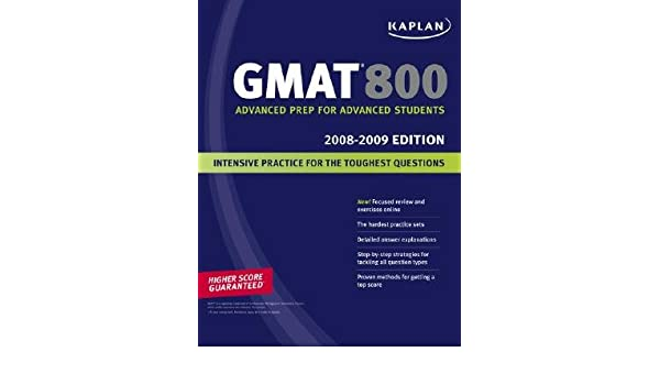 Buy Kaplan GMAT 800 2008-2009 Book Online at Low Prices in
