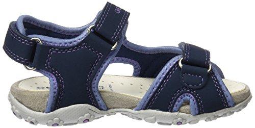 Geox Roxanne A, Sandales Bout Ouvert Fille Bleu (Navyc4002)