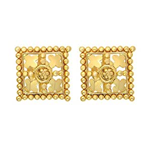 Popleys 22k (916) Yellow Gold Stud Earrings