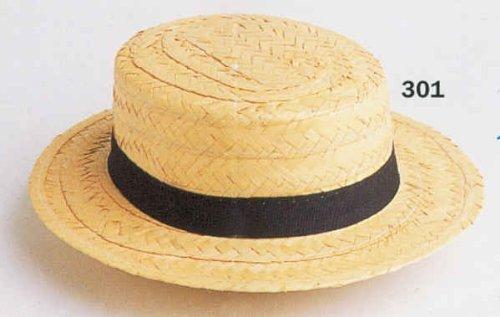 Hut: »Kreissäge«, Strohhut mit dunklem Band
