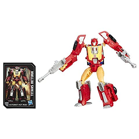 TRANSFORMERS TITANS RETURN DELUXE FIREDRIVE & AUTOBOT HOT ROD ACTIONFIGUR