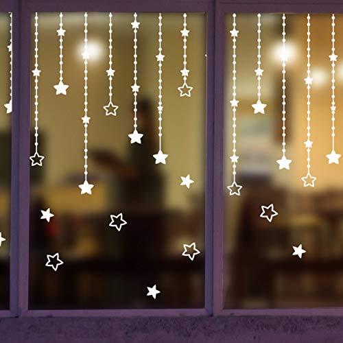 Ayhuir Sterne Design Windows Aufkleber Gefrorener Schnee Winter Kunst Aufkleber Wohnkultur Shop Dekoration Haus Glas Aufkleber