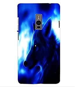 ColourCraft Fox Look Design Back Case Cover for OnePlus Two