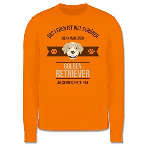 Hunde - Das Leben ist viel schöner wenn man einen Golden Retriever an seiner Seite hat - Herren Premium Pullover Orange