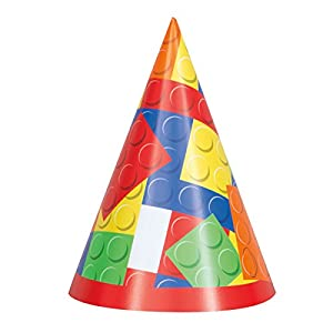 Unique Party- Gorros de Fiesta, 8 Unidades, Multicolor (58241)