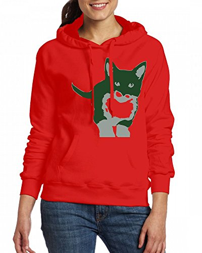 Dog Womens Hoodie Fleece Custom Sweartshirts Red