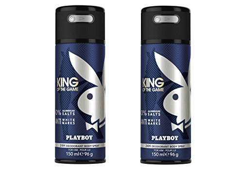 Playboy King of the Game Deo Body Spray, 2er Pack (2 x 150 ml)
