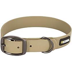 Kerbl fácil cuidado Collar, 25mm x 45–55cm, color gris