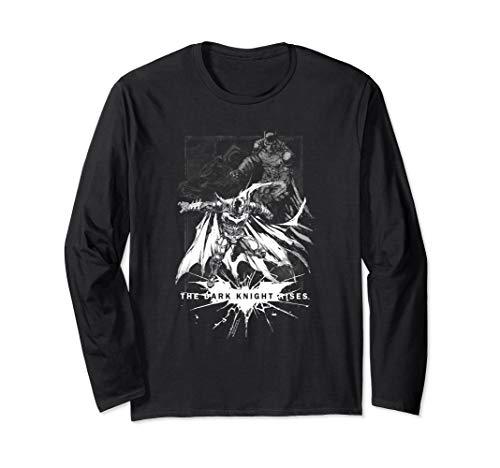 Batman Dark Knight Rises Rising Sketch Langarmshirt -