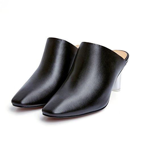 Moda con pantofole di baotou/ L'Europa e la scarpa alta con persone pigre/Le scarpe di moda-A Lunghezza piede=25.3CM(10Inch)