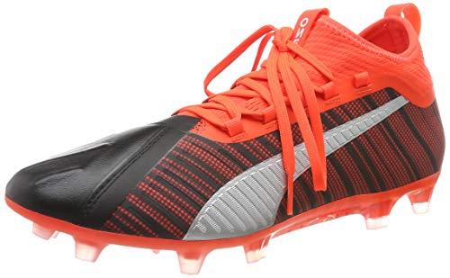 PUMA One 5.2 FG/AG, Botas de fútbol para Hombre, Black-Nrgy Red Aged Silver, 42 EU