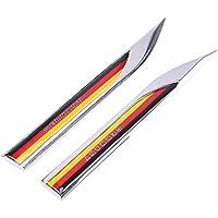 Power Logo Auto Grill Badge Dekoration Legierung Metall Power Badge Emblem passend f/ür die meisten machen und Modelle 3D Silber Chrom//////Power Auto Styling gelb Deutsche Flagge