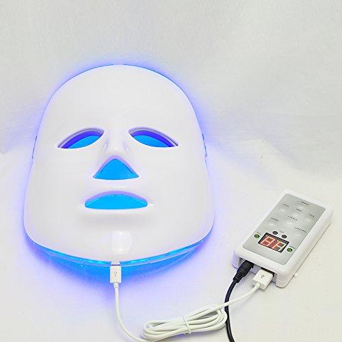Denshine 3 couleurs Lumière Photon LED Masque facial rajeunissement de la peau Beauty Therapy