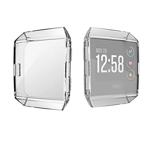 KTcos für Fitbit Ionic Displayschutz, Fitbit Ionic Hülle, TPU Schutzfolie Allround-Schutzhülle High Definition Clear Ultradünne Schutzhülle für Fitbit Ionic Smart Fitness Watch(klar) -
