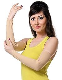 TeeMoods Womens Fingerless Protective Summer Gloves-TM-1624Skin