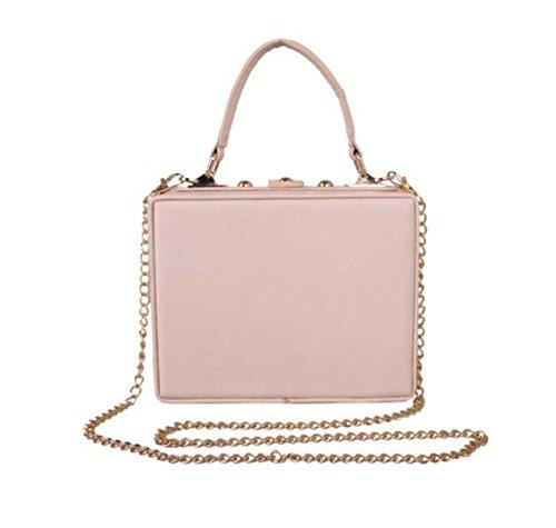 Schmetterlings-Stickerei-Abendessen-Beutel Luxuxperlen Blumen-Diamant-Handtasche Schultertasche Pink