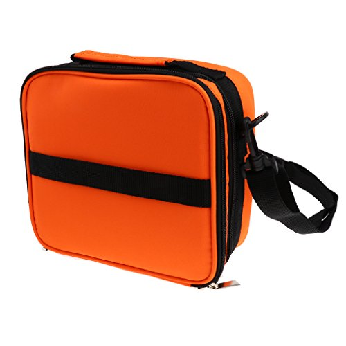 MagiDeal Borsa Stoccaggio Oli Essenziali Olio con Cintura Sacchetto Bag Porta Trucco Salone Massaggi - Arancione