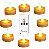 Topstone Flameless Tea Lights with Timer and Remote Control,Battery Powered LED Tealights,Electric Fake Candle with Bright and Flickering Yellow Bulb ,Pack of 12,Best for Parties,Home Decor and Festivals Celebrations