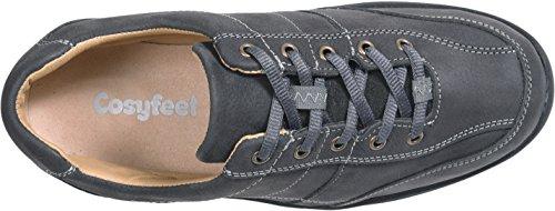 Cosyfeet Minnie Schuhe - Besonders geräumig / Extra Roomy (breite Passform M+ Euro / 5E+ Width Fitting UK) Kohle, Nubukleder