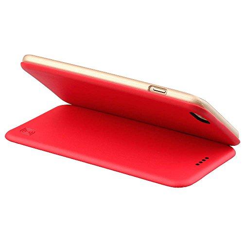 """MOONCASE iPhone 6S Coque, UltraSlim Housse en Cuir Premium Etui à rabat pour iPhone 6 6S 4.7"""" Bookstyle de Protection Porte-cartes Case Rose Or"""