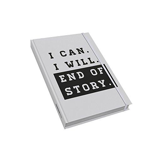 VISUAL STATEMENTS® Notizbuch mit Sprüchen/verschiedene Varianten/Thematisch passende Sprüche in jedem Buch/Gepunktete Innenseiten/Bullet Journal/14,8 x 21 cm (A5)/I CAN I WILL (Lieblings-buch-listen)