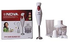 Nova 3 in 1 Hand Blender set - Powerful Blending & Chopping Made Easy