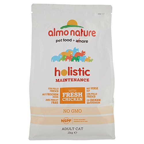Almo Nature Holistic Dry Cat with Fresh Chicken and Rice, 2 Kg