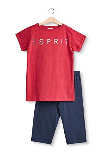 ESPRIT Mädchen Zweiteiliger Schlafanzug 018EF5Y001, Rot (Cherry Red 615), 164 (Schlafanzug Cherry)