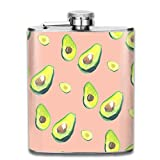 flasks for men High Quality Perfect Many Avocado Images Stainless Steel Hip Flask 7 OZ - Sneak Alcohol Anywhere for Man,Woman