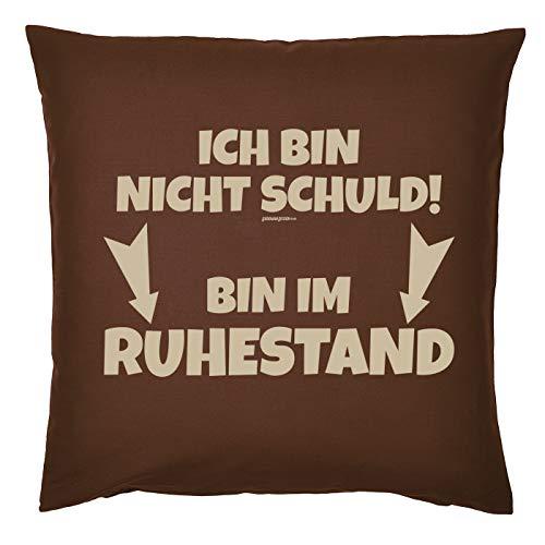 Art & Detail Shirt Rentner Kissen - ICH Bin Nicht Schuld! Bin Im Ruhestand - für rüstige Pensionisten (Ruhestand Schulden)