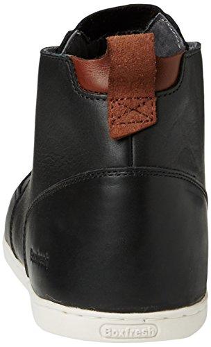 Boxfresh Symmons Sh Lea Blk L, Sneakers Hautes homme Noir - Black (Blk/Blk)